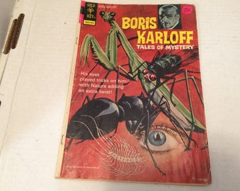 Vintage Comic Book - Boris Karloff Tales of Mystery - Issue 52 February 1974 - insects on cover illustration - very good condition