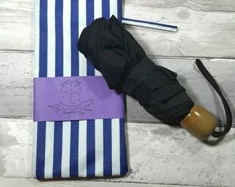 Umbrella, brolly bag, wet, waterproof bag, stars, navy blue, baby accessory, handbag