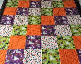 Dachshund quilt, Dachshund quilt, dog blanket, baby  blanket, Halloween quilt