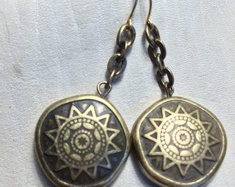 Tribal Sun Earrings