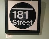 181 Street placard record