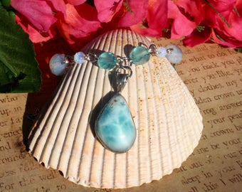 Mermaid Moonlight Larimar Necklace