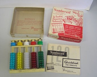 Vintage 1955 Numberaid American Abacus Complete w/Box Instructions