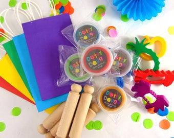 Rainbow Party Bag Kit with child's dough