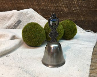 Vintage Hawaii Souvenir Bell/Made in Japan/Silver