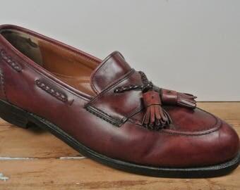 Johnston & Murphy Aristocraft Burgundy Moc Toe Tassel Loafer Men's Size: 10D