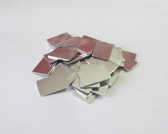 1/2 x 3/4 - 18G Aluminum Blanks -Tumbled blanks - PREMIUM - Easy to Stamp on - Hand Stamping blanks - necklace blanks