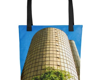 Tote bag - Red Silo Original Art - Silo Tree
