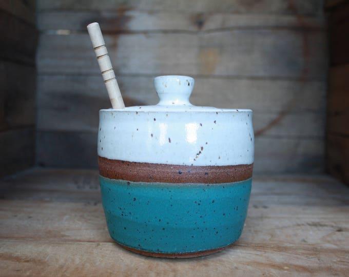 Honey Pot - Handmade - Honey Jar - Ceramics & Pottery - KJ Pottery