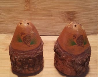 Wooden Pinecone Salt and Pepper Shaker
