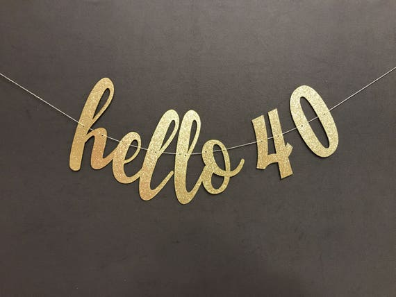 Happy 40th birthday banner 40th birthday party decorations for Decoration 40 years old party