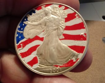 Silver Dollar 2001 Liberty Enduring Freedom Found Coins Silver