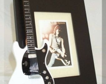 JOHNNY RAMONE Miniature Guitar Photo Frame Mosrite