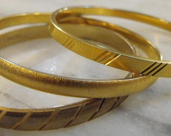 Vintage Monet Bangle Bracelets Three