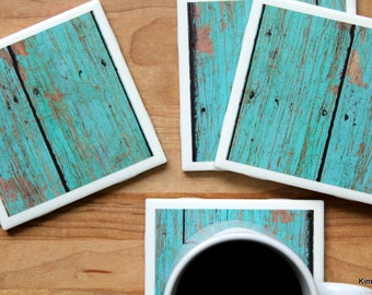 Turquoise Coasters - Coasters - Drink Coasters - Tile Coasters - Ceramic Coasters - Coaster Set - Housewarming Gift - Table Coasters