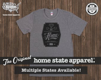 Home State Apparel - Diamond Home T-Shirt: Light Charcoal (Grey)