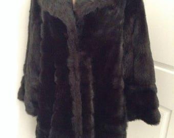 Vintage Faux Fur 1960s Hollywood Glam