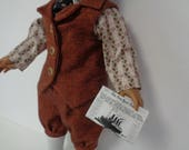 For 18 inch dolls-  Knicker Newsboy Suit early 1900s- Shown on my American Boy Doll