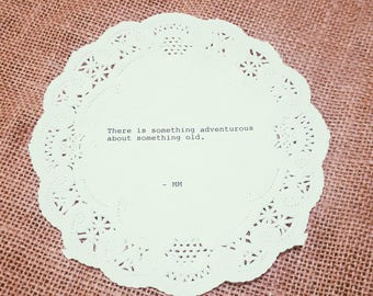 Something Adventurous Typewriter Doily