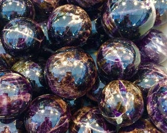 """Super Seven Crystal Melody Stone 2.5"""" Spheres"""