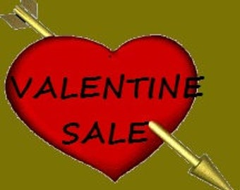 Valentine Day Sale Going On. Get 25% Off Entire Shop. Offering Vintage Gifts