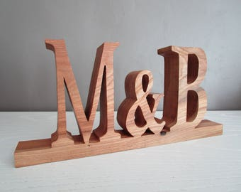Names for wedding wooden initials