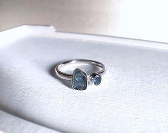 raw sapphire ring, raw sapphires, blue sapphire ring, rough sapphire ring, raw gemstone ring, raw gemstone jewelry, gemstone ring, raw gems