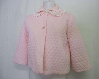 Quilted Bed jacket Nanette Bed Jacket Bed Jacket Pink Quilted Jacket Short quilted Robe