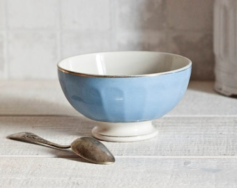 """Vintage french """"Café au lait"""" bowl in sea green - French breakfast bowl - Shabby chic & country style"""