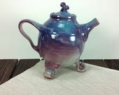 Teapot Purple and teal bl...