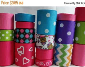 ON SALE wholesale grosgrain ribbon BEAR mix lot