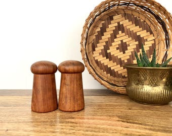 Salt & Pepper Shakers | Wooden Shakers | Boho Serveware, Kitchenware