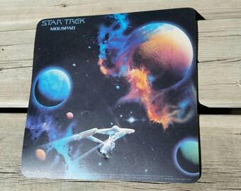 Vintage Star Trek Mouse Pad 1992 Official Paramount Moustrak Solar System