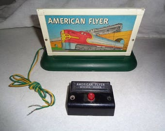 Flyer billboard with electric horn sound,use with Lionel,Marx or American Flyer electric trains