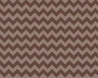 SALE Chocolate Brown Chevron Small Tone On Tone Riley Blake Fat Quarter Cotton Fabric