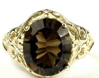 On Sale, 30% Off, Smoky Quartz, 14KY Gold Ring, R114