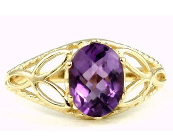 On Sale, 30% Off, Amethyst, 14KY Gold Ring, R137