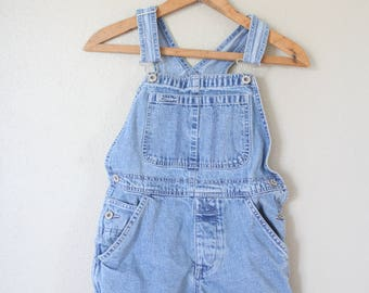 vintage kids  denim cutoffs shorts overalls