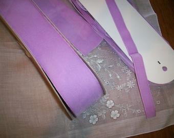 10 yds. Vintage nylon/rayon taffeta back velvet in Orchid