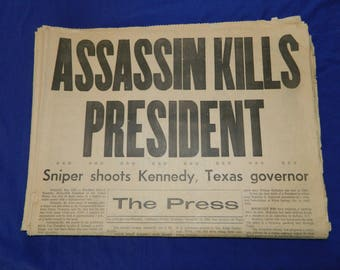 Kennedy Assassination 11 - 22 - 63 The Press Riverside Newspaper