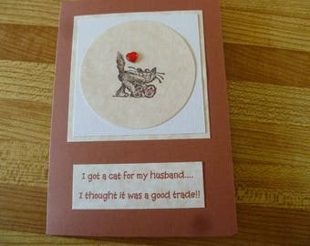 Humorous card for a cat lover