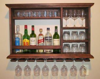 Mini Bar, Red Mahogany Stain Wine Rack, 3u0027x2u0027 Liquor Cabinet,