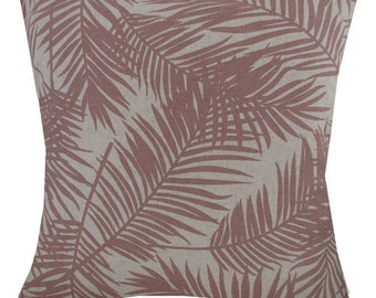 "Designer handmade dusty pink palm tree scandinavian luxury 16"" cushion cover"