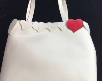 White Lamarthe handbag with heart