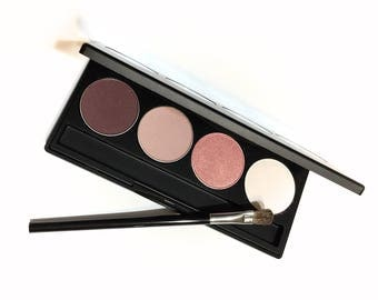 Pressed Mineral Eye Shadow Palette - Natural Makeup - Gluten Free Vegan Eye Shadow