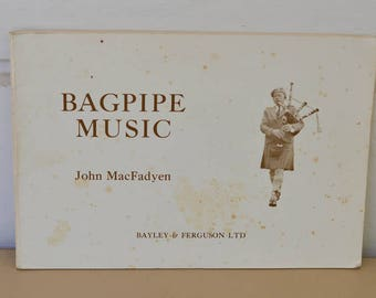 Bagpipe Music Book, Vintage Bagpipe Music Collection