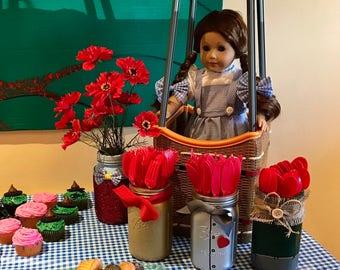 Handmade The Wizard of Oz Themed Mason Jars!