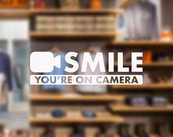 Smile You're On Camera decal