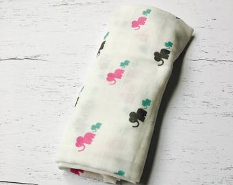 Organic Receiving Blanket, Organic Swaddle Blanket, Organic Baby Gift