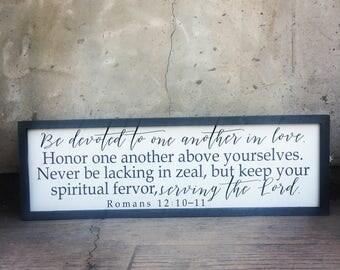 Romans 12:10-11 sign